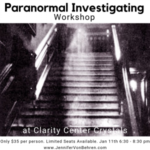 Paranormal Investigation Workshop w Mini Readings by JVB