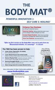 The Body Mat Business Info Flyer